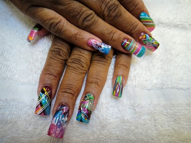 All different freestyle by Miternety - Nail Art Gallery  nailartgallery.nailsmag.com by Nails Magazine www.nailsmag.com #nailart | NAIL  DESIGNS | Pinterest ... - All Different Freestyle By Miternety - Nail Art Gallery