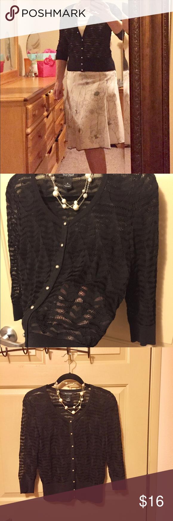 💝WhiteHouse Black Market Black Cardigan Sweater💝 | Black ...