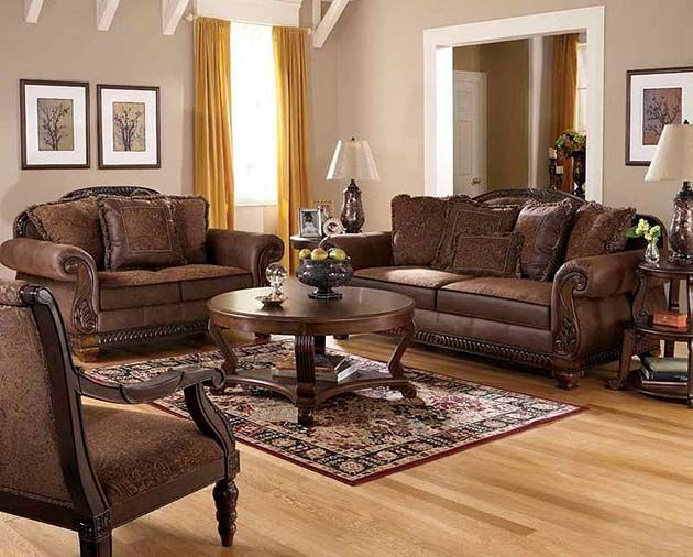 Tuscan Style living room Furniture Wrap the Living Room with the