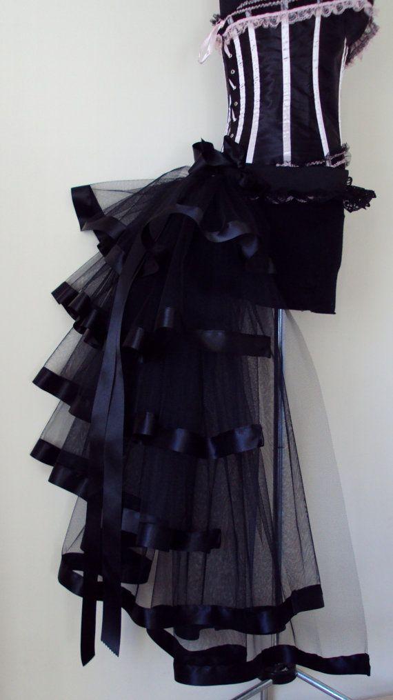 5ed60c20a14 Black Burlesque Steampunk Bustle Belt size US 2 4 6 8 10 UK 6 8 10 12 14