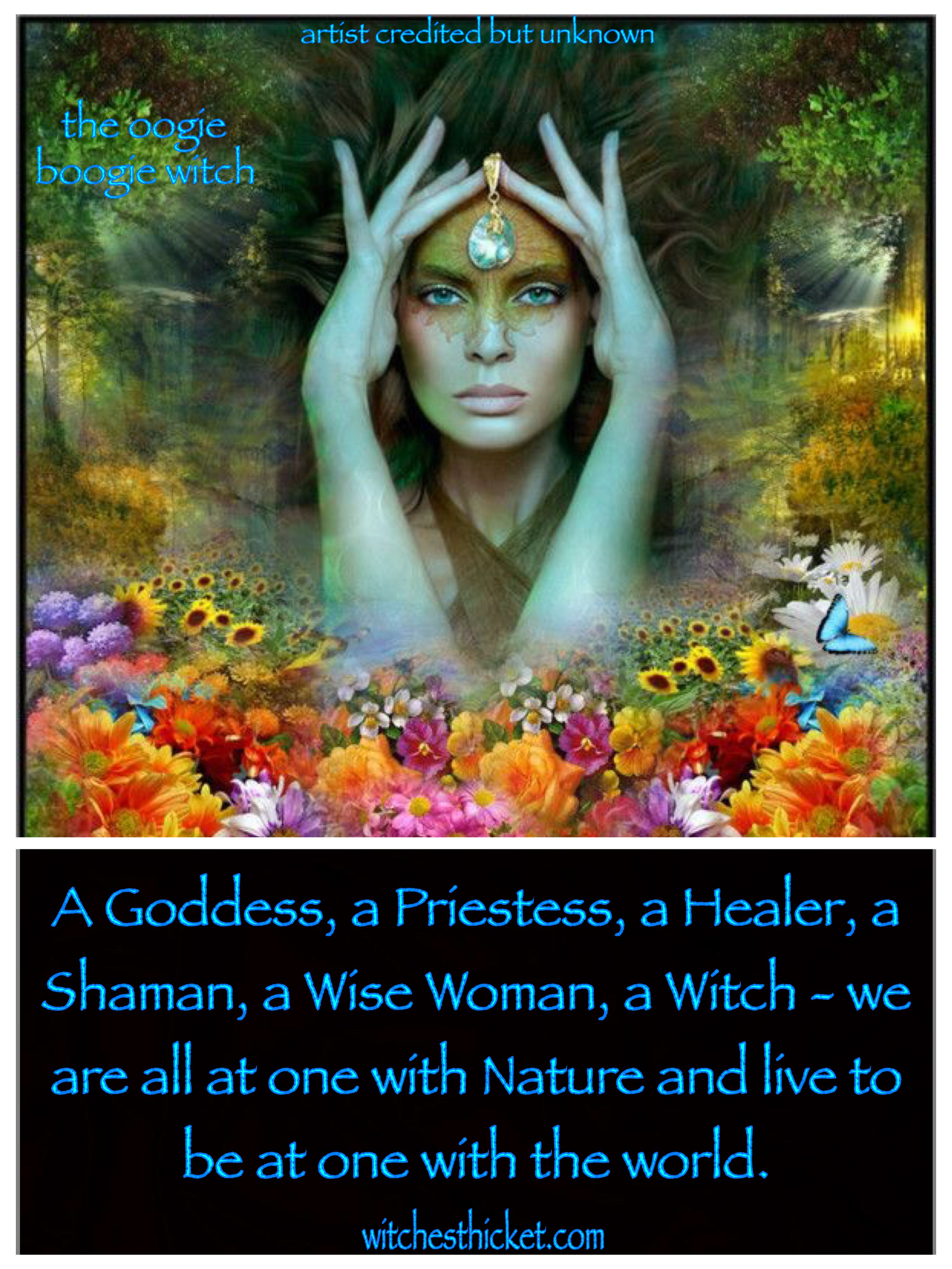 A goddess a priestess a healer a shaman a wise woman