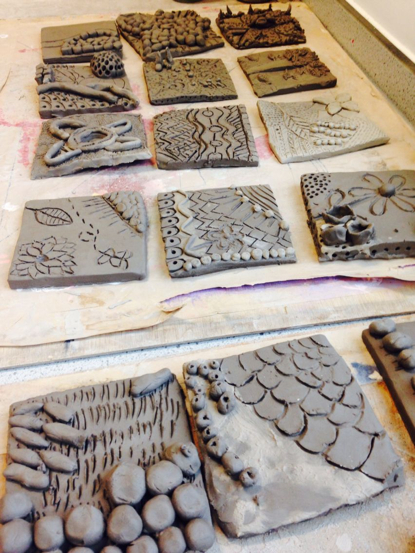 Year 9 Clay Tiles Inspired By Natural Forms Art Class Ideas
