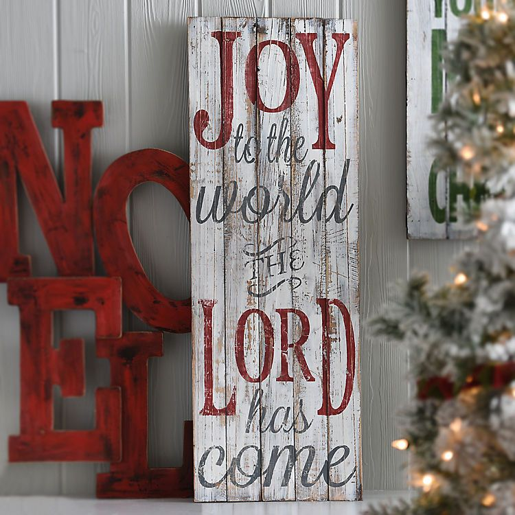 Joy To The World Wood Wall Plaque Christmas Diy Pallet Christmas Signs Wood Christmas Wall Decor