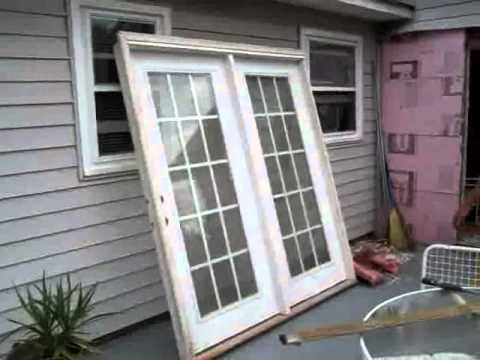 I Don T Think You Have To Replace The Sliding Glass Doors If You Do Have To Replace Be Sure And French Doors Patio Door Installation Installing French Doors