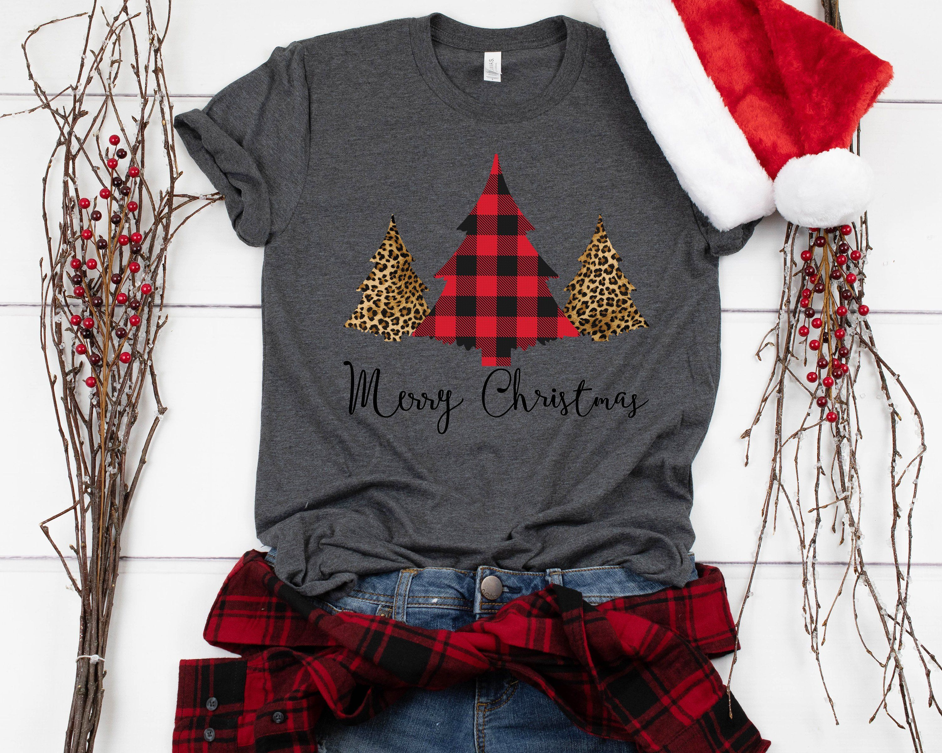 Excited To Share The Latest Addition To My Etsy Shop Merry Christmas Shirt Trees Chee Womens Christmas Shirts Buffalo Plaid Christmas Tree Christmas Shirts