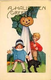 Such A Cute Vintage Halloween Card