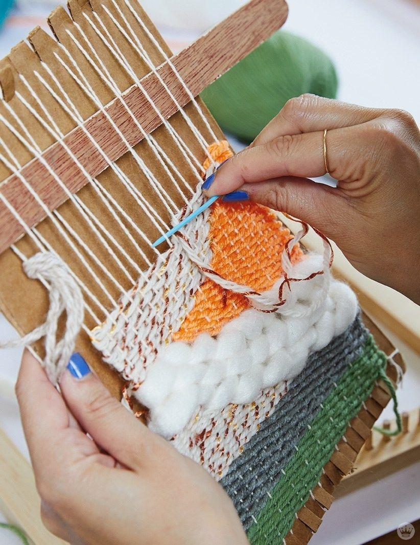 Weaving workshop: Fresh looks on little looms - Think.Make.Share.