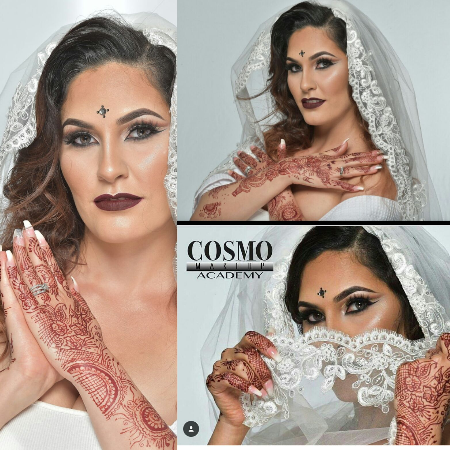 Bridal Henna Shoot for Cosmo Makeup Academy Services