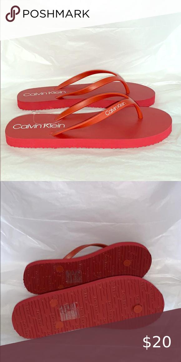 Calvin Klein Flip Flops in 2020