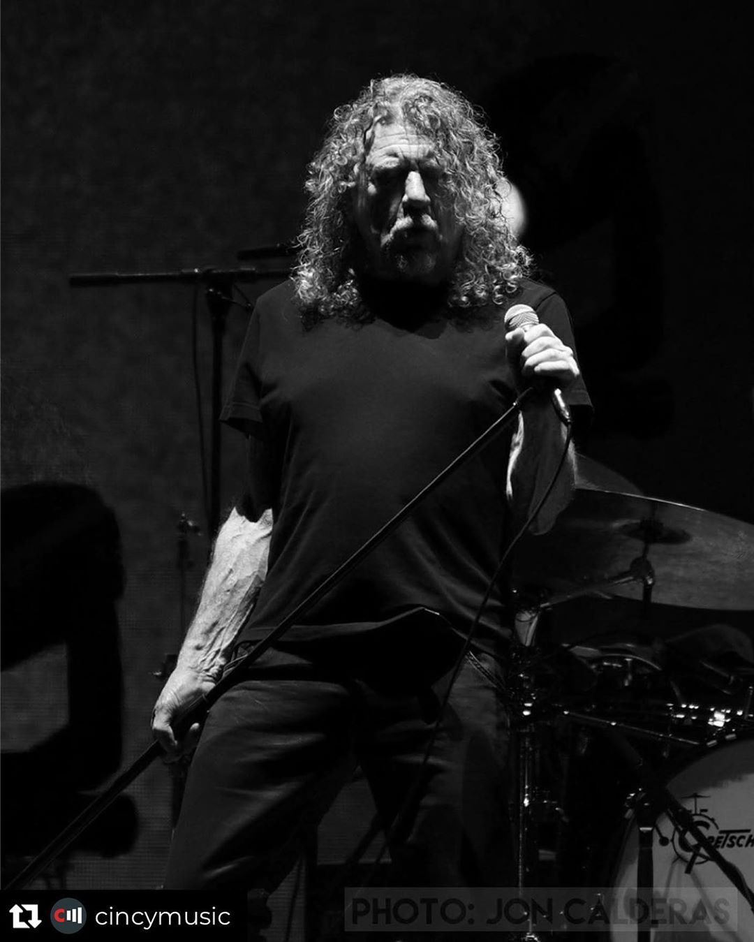 "Jon on Instagram: ""My photo of Robert Plant from Bourbon & Beyond. Reposted from @cincymusic  Batting in the big leagues. #robertplant #ledzeppelin…"" #robertplant"