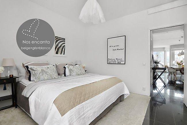 BLANCO Y BEIGE | Scandinavian design bedroom, Spring ...