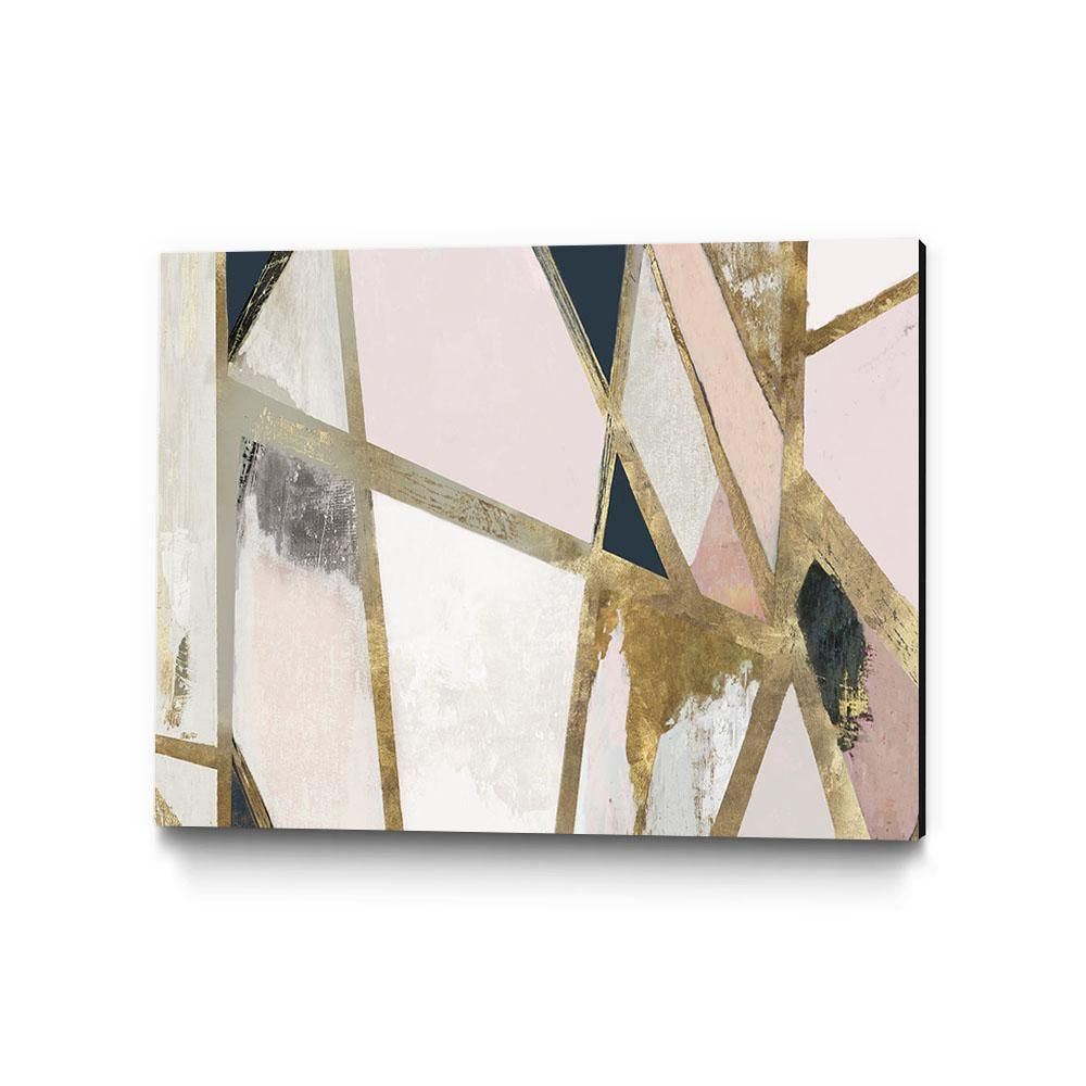 Clicart 36 In X 24 In Warm Geometric Ii Blush Version By Pi Studio Wall Art Pipg338 3624mm The Home Depot Abstract Canvas Art Canvas Art Prints