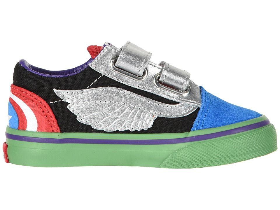 89c23f1be5 Vans Kids Vans X Marvel(r) Old Skool V (Infant Toddler) Boys Shoes (Marvel)  Avengers Multi