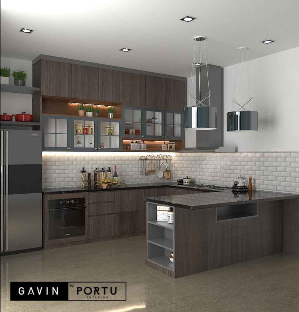 Buat Kitchen Set Dapur Kering Dengan Island  Dapur, Minimalis, Desain
