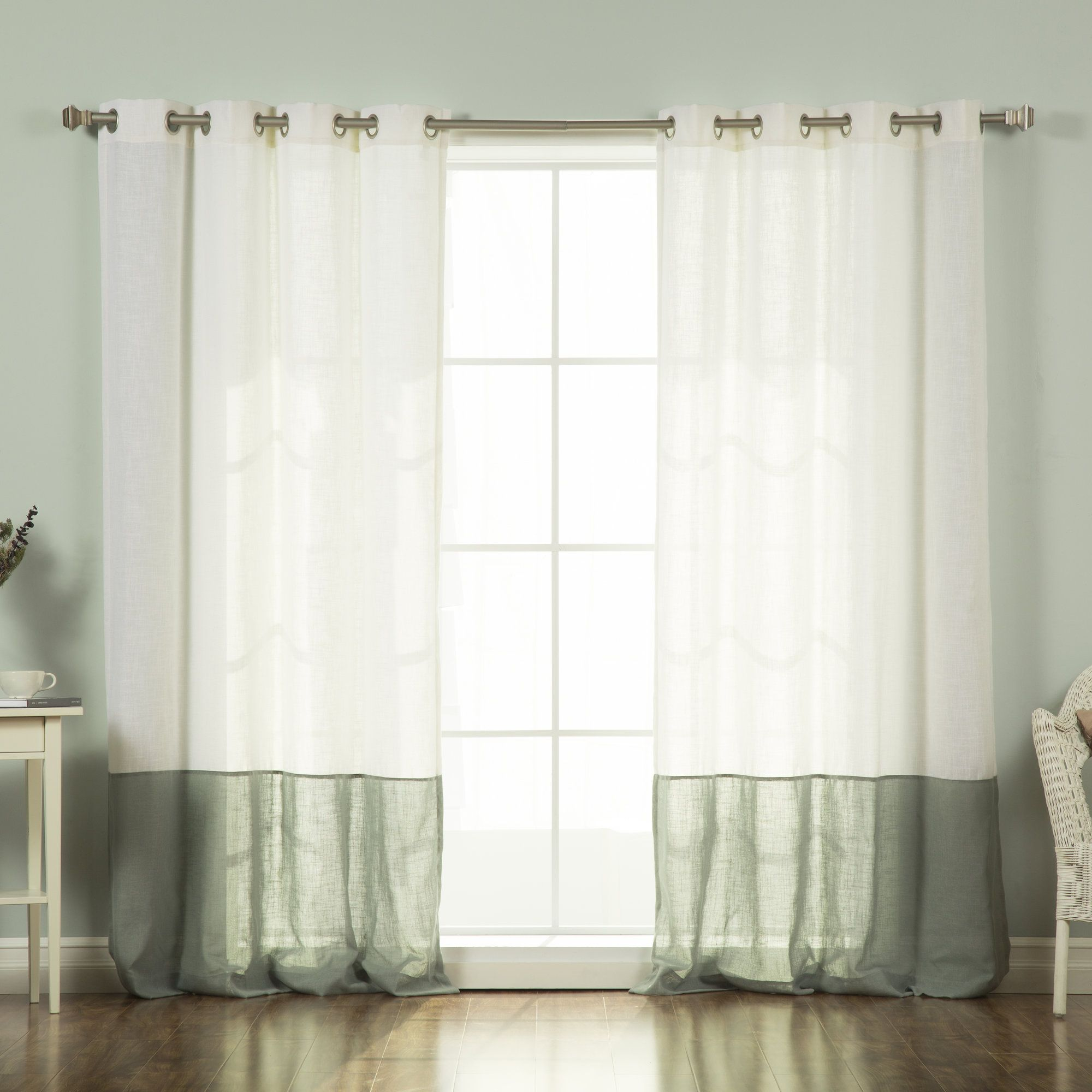 I Only Have Eyes For Eyelet Curtain Panels White The Land Of