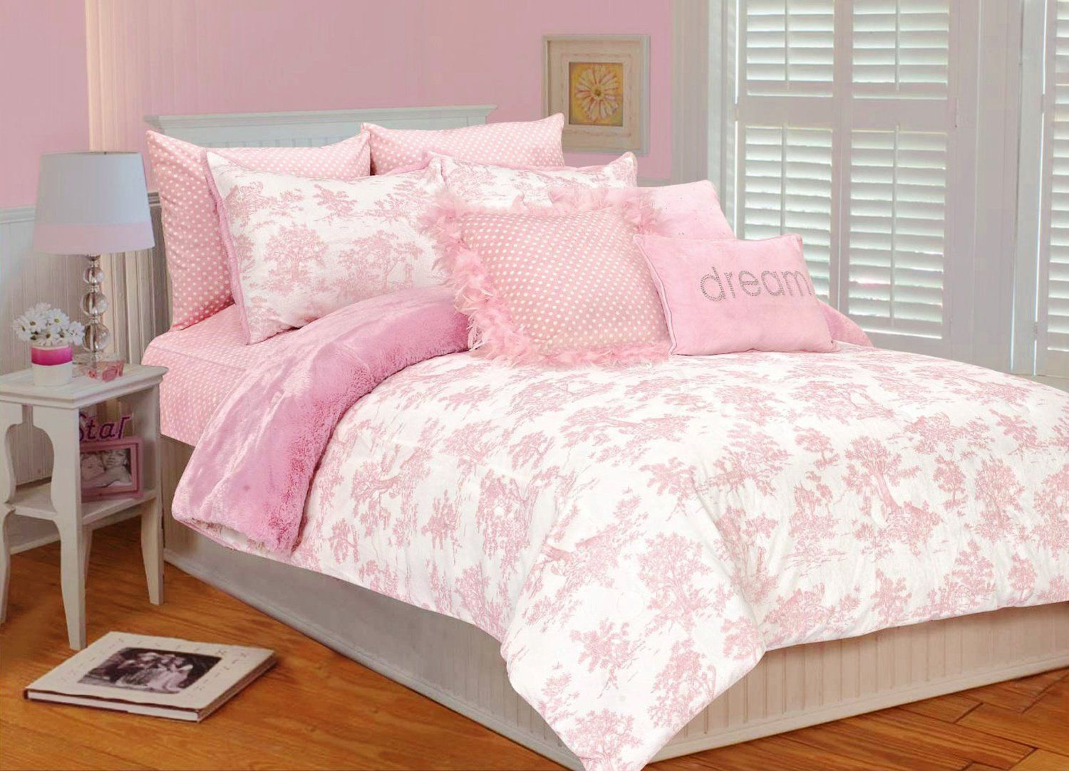 rose, coral , magenta and pink bedroom decorating ideas | gemello