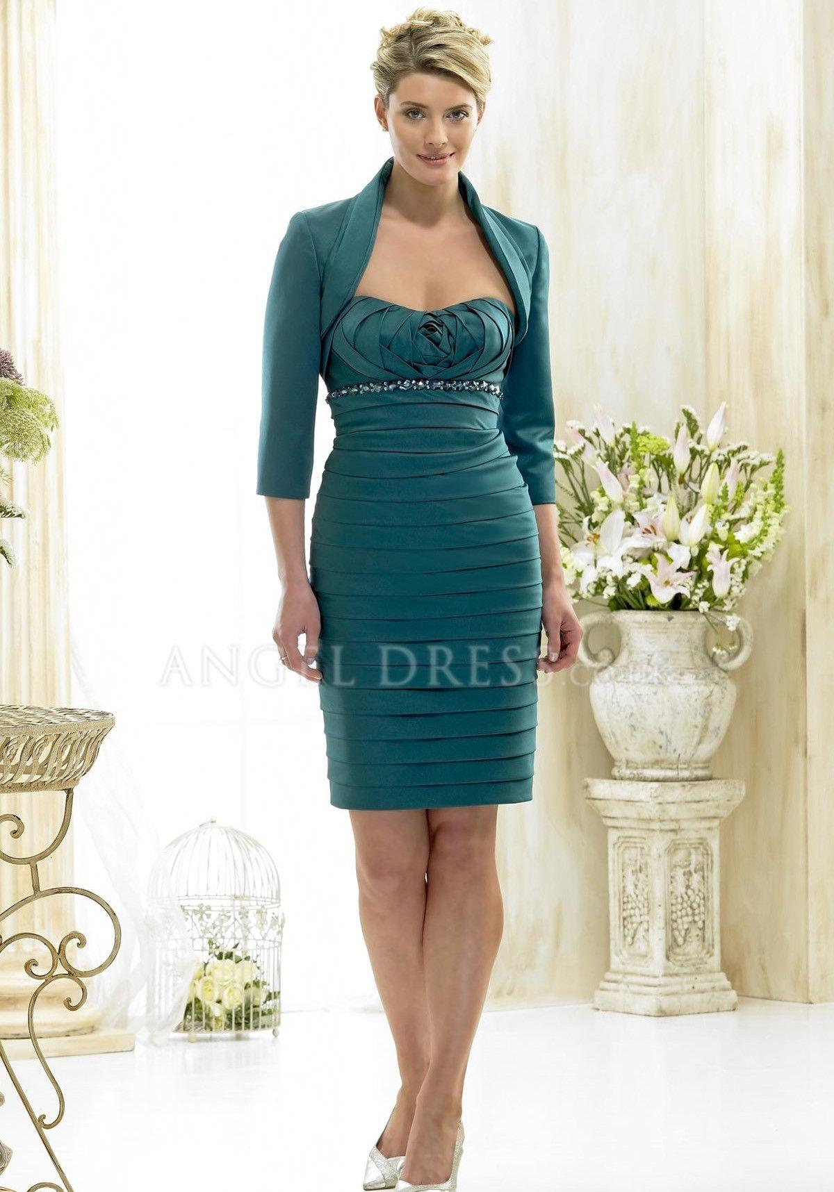 Wedding dresses for mother of the bride  Splendid Sheath Column Empire Waist Zipper Back Satin Mother of the