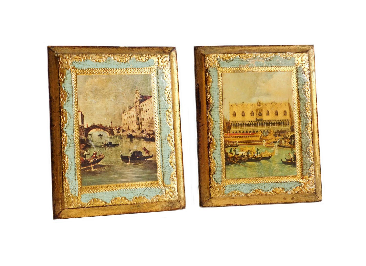 Vintage Florentine Wall Art, Made in Italy, Mini Wall Plaques ...