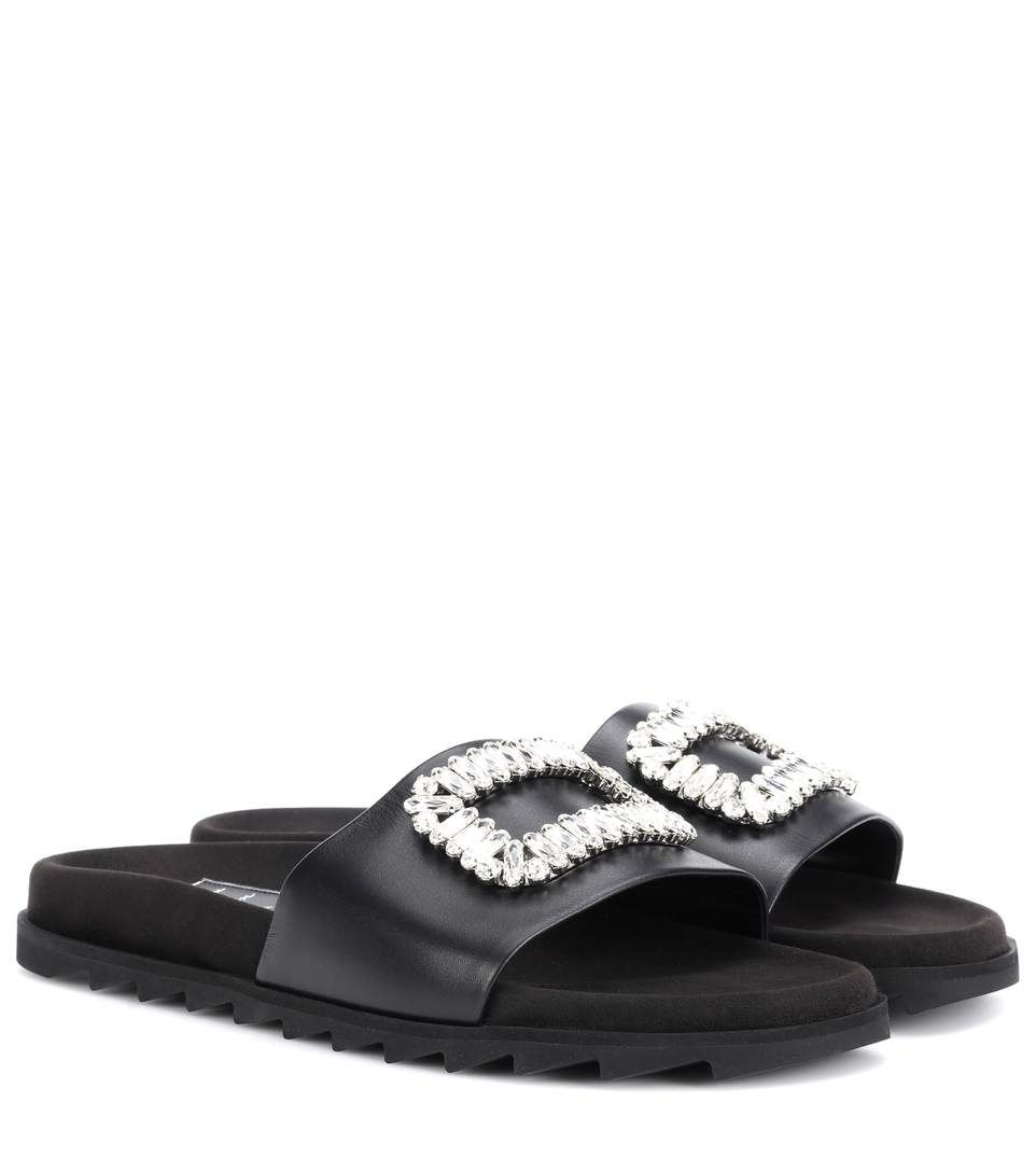 Roger Vivier Pool Slidy leather slides rnayVIry