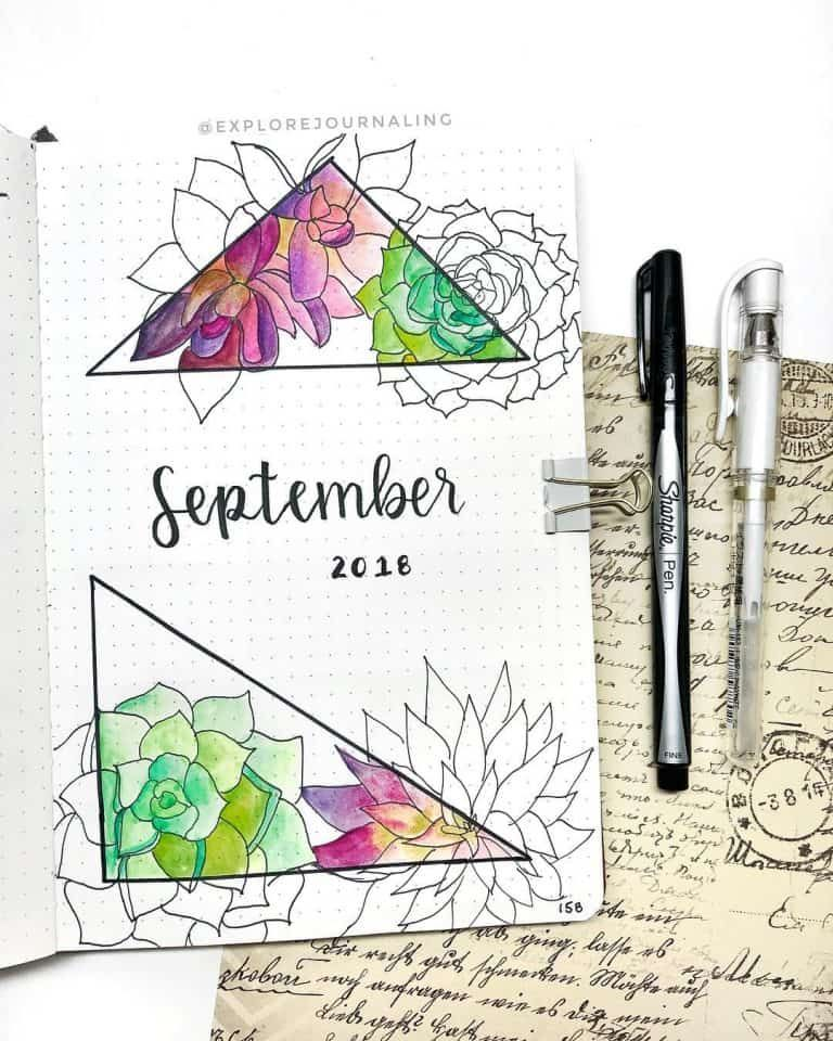 100+ Incredible Cactus Bullet Journal Spreads