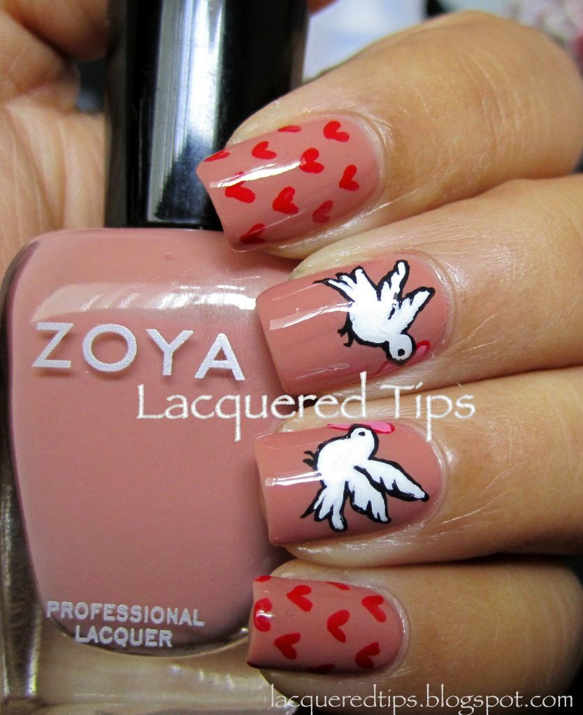 Fashion style 10 valentines amazing nail designs for girls