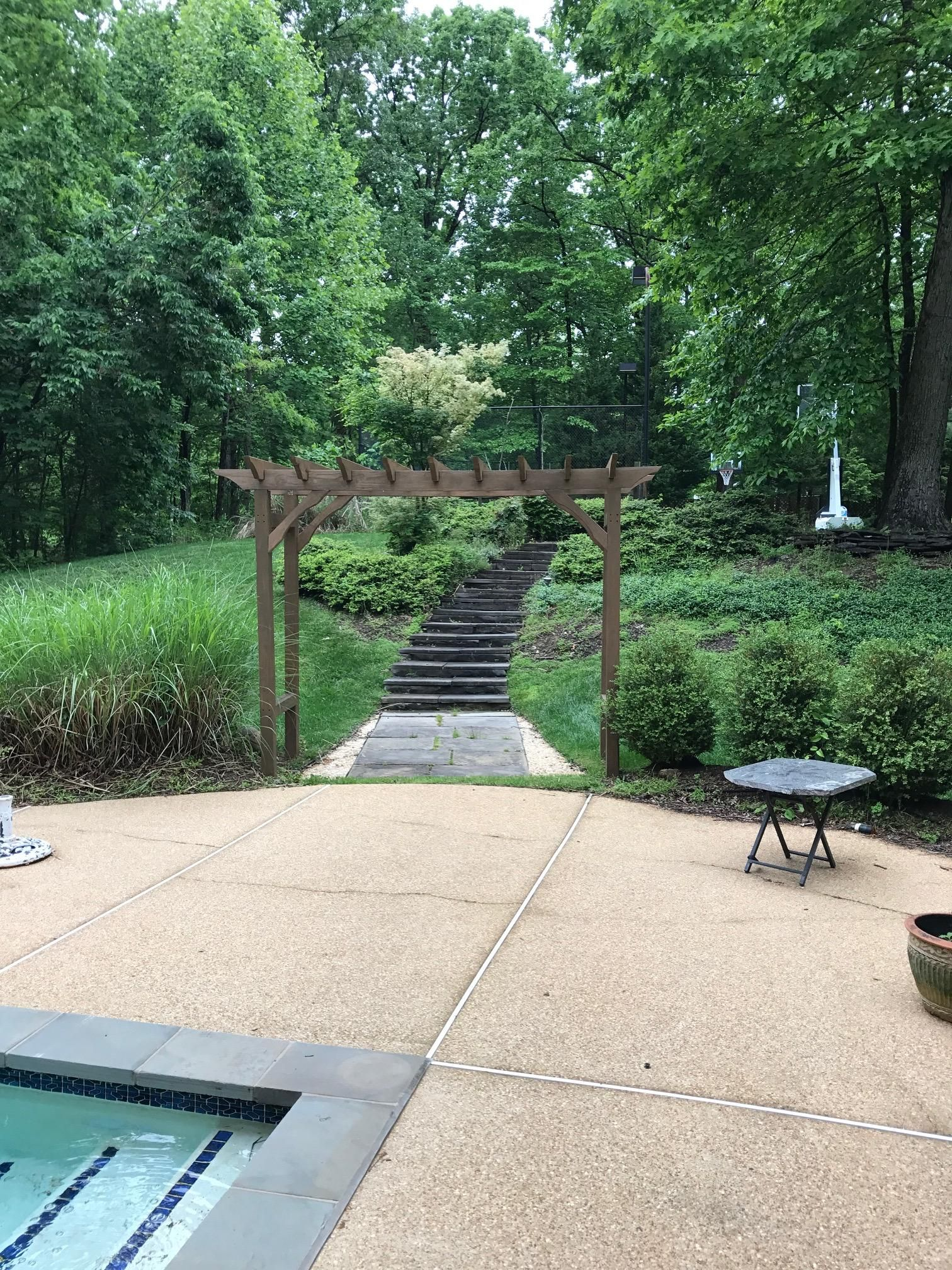 Heres A Diy Pergola Build I Did For Our Backyard