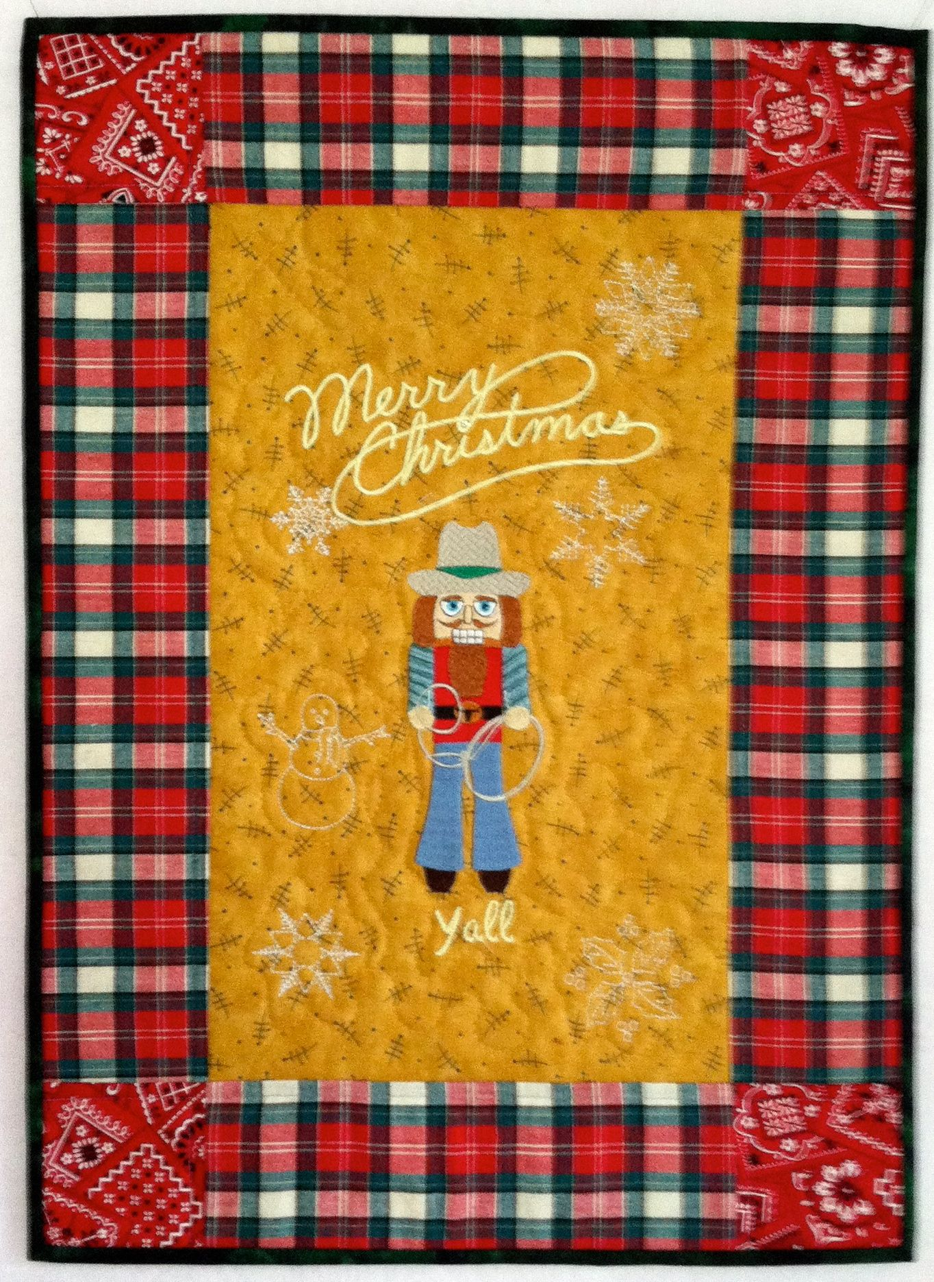 Wall Hanging that I made for my Mom, who lives in Oklahoma on a ...