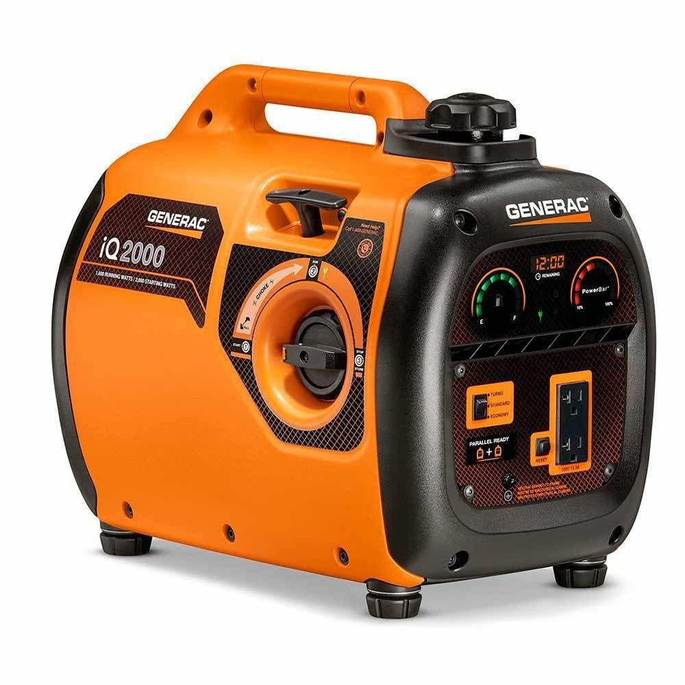 Generac 7123 Iq2000 Generator Portable Inverter 2000w Csa In 2020 Portable Generator Inverter Generator Best Portable Generator