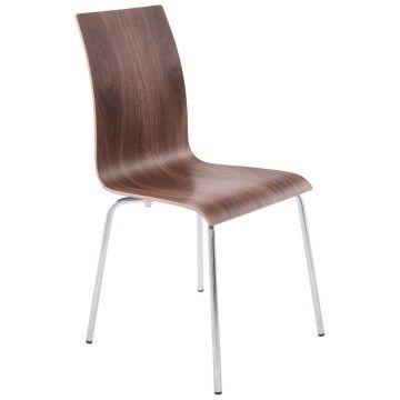 Chaise polyvalente au design épuré classic noix