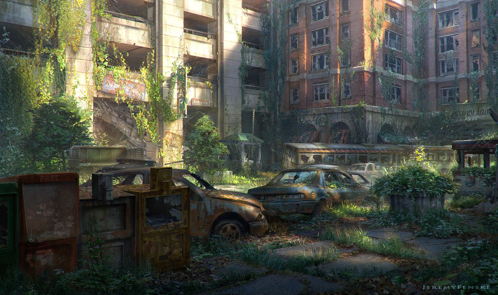 Artstation - Overgrown City Jeremy Fenske