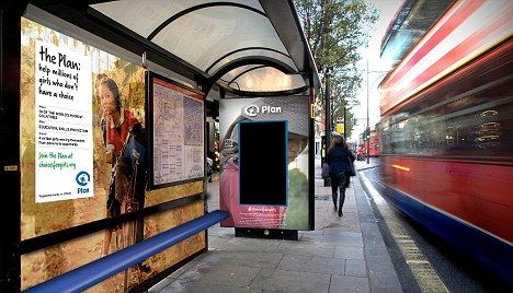 """A bus stop ad has been developed that uses facial-recognition technology to tell the gender of the person looking at it; with a different message delivered depending on sex.  It plays a 40-second advert which only women will be able to watch the whole of. The ad's for charity Plan UK, who hope to show men """"what it's like to have basic choices taken away"""", to promote female education worldwide. The ad's being delivered using was masterminded by CURB."""
