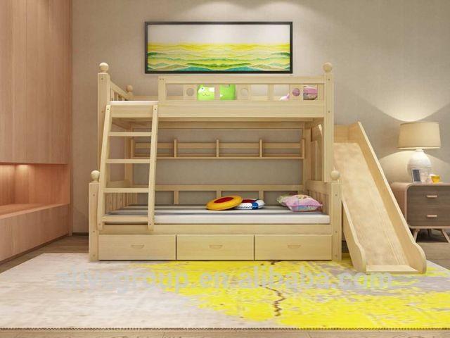 ZC06 Fábrica Precios Baratos Niños Litera Con Tobogán En Camas Para Niños De  Mobiliario Infantil