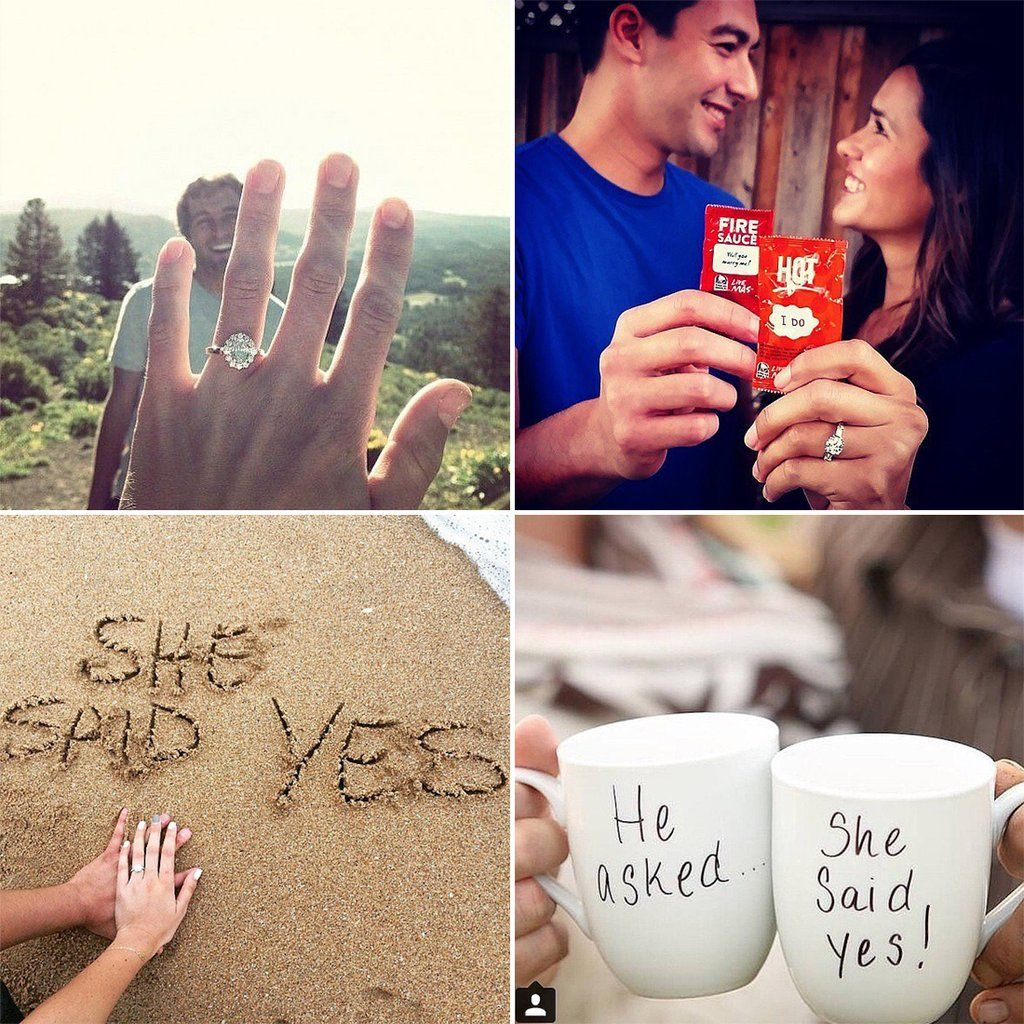 36 Cute Engagement Announcement Photos From Real Couples
