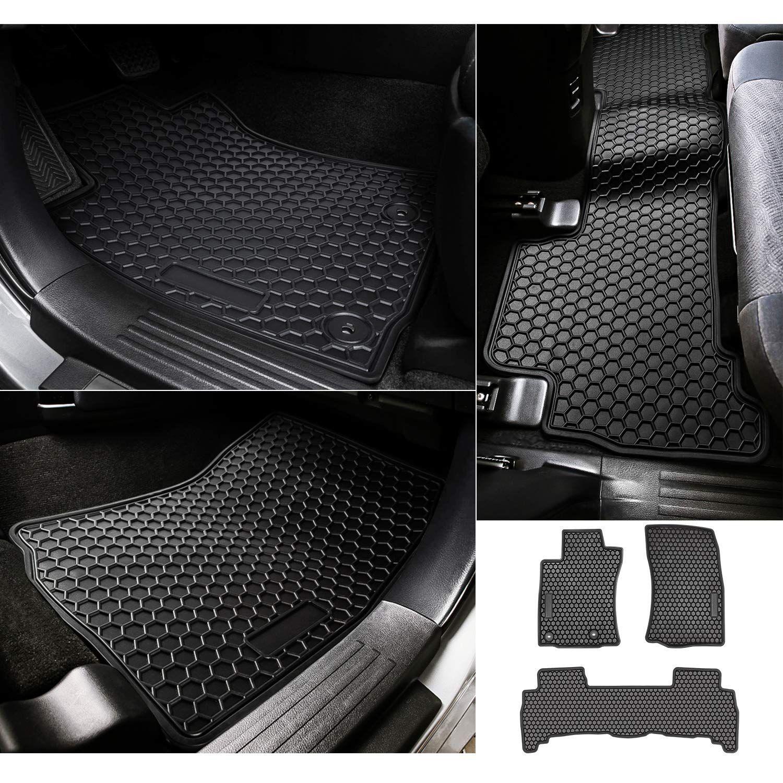 Bonbo Floor Liner Mats For Lexus Gx460 2014 2019 Front And Rear Seat Floor Mats Custom Fit All Weather Guard Heavy Duty Rubber In 2020 Floor Liners Floor Mats Flooring