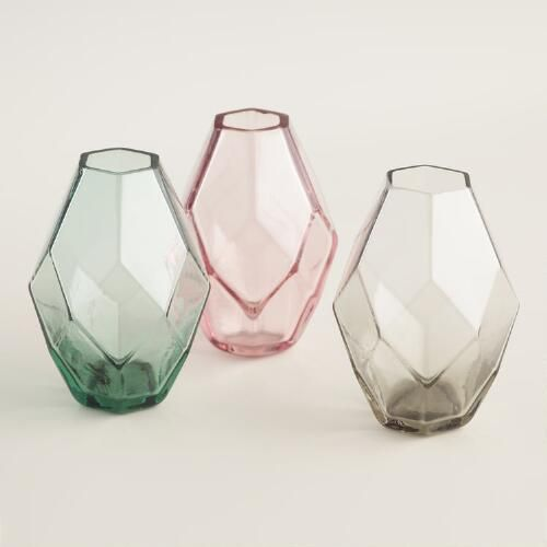 Oval Faceted Mini Vases Set Of 3 Mantels Apartments And Apartment