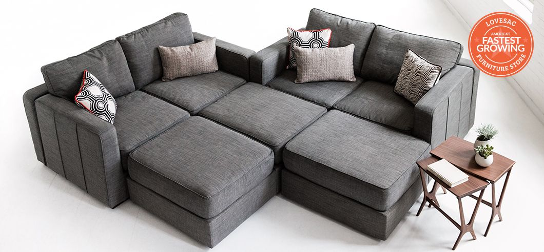 in case you want more than just your every day average sofa would work with two loveseats and ottomons and a corner table i love this look - Lovesac Sofa