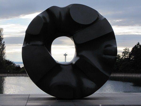 """""""Black Sun,"""" 1969, sculpture by Isamu Noguchi, Lower Pond ...  """"Black Sun..."""