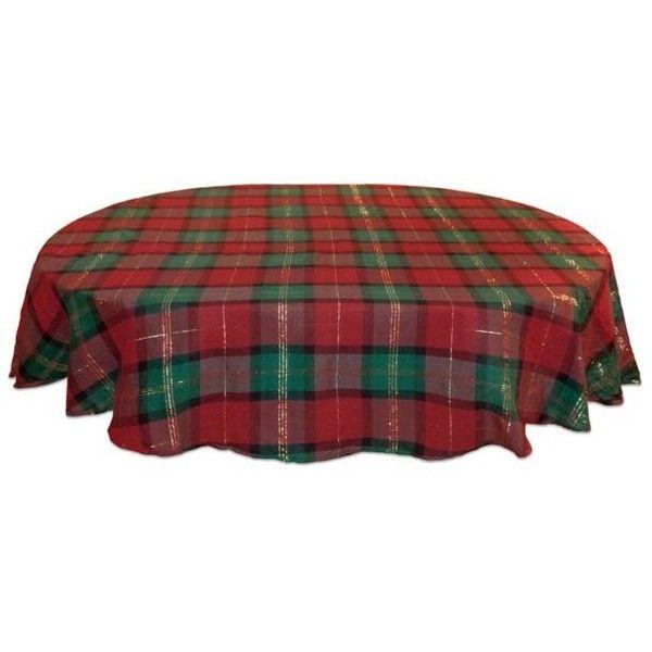 Lenox Multi Holiday Nouveau Plaid 70 In. Round Table Cloth (u20ac28)