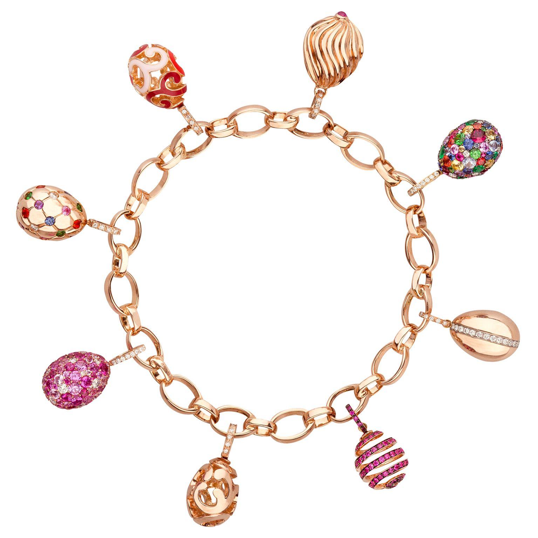 Fabergé Egg Charm Bracelet #Fabergé