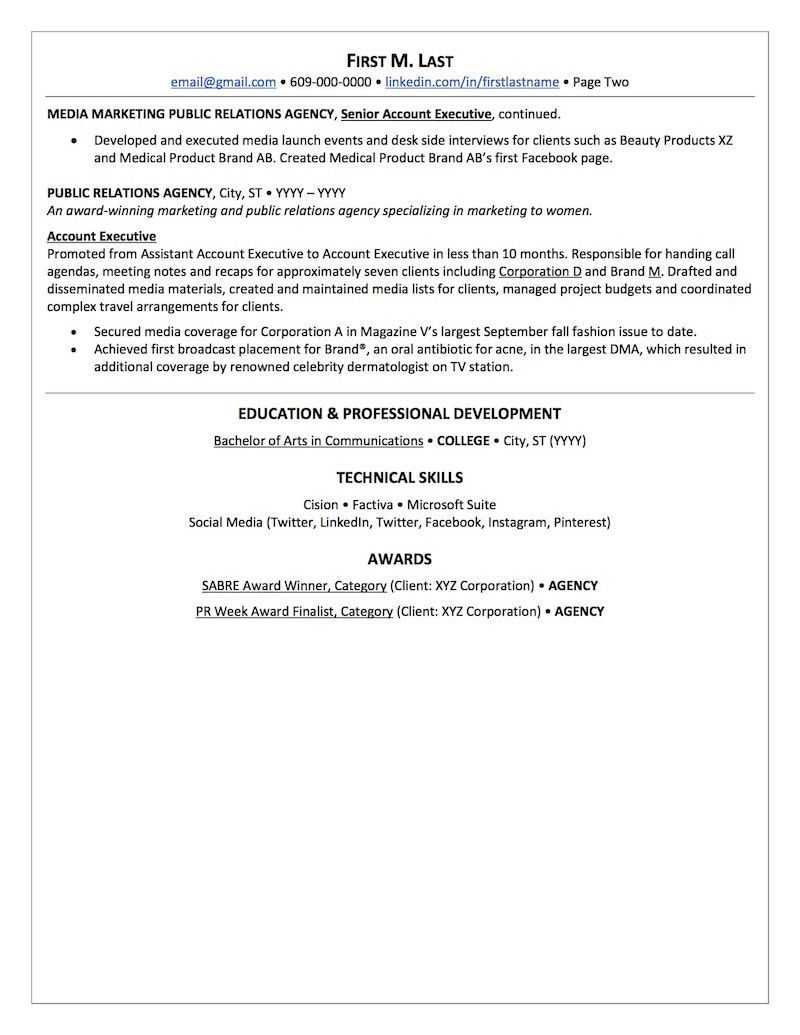 Public Relations Resume Sample | Resume Examples no experience ...