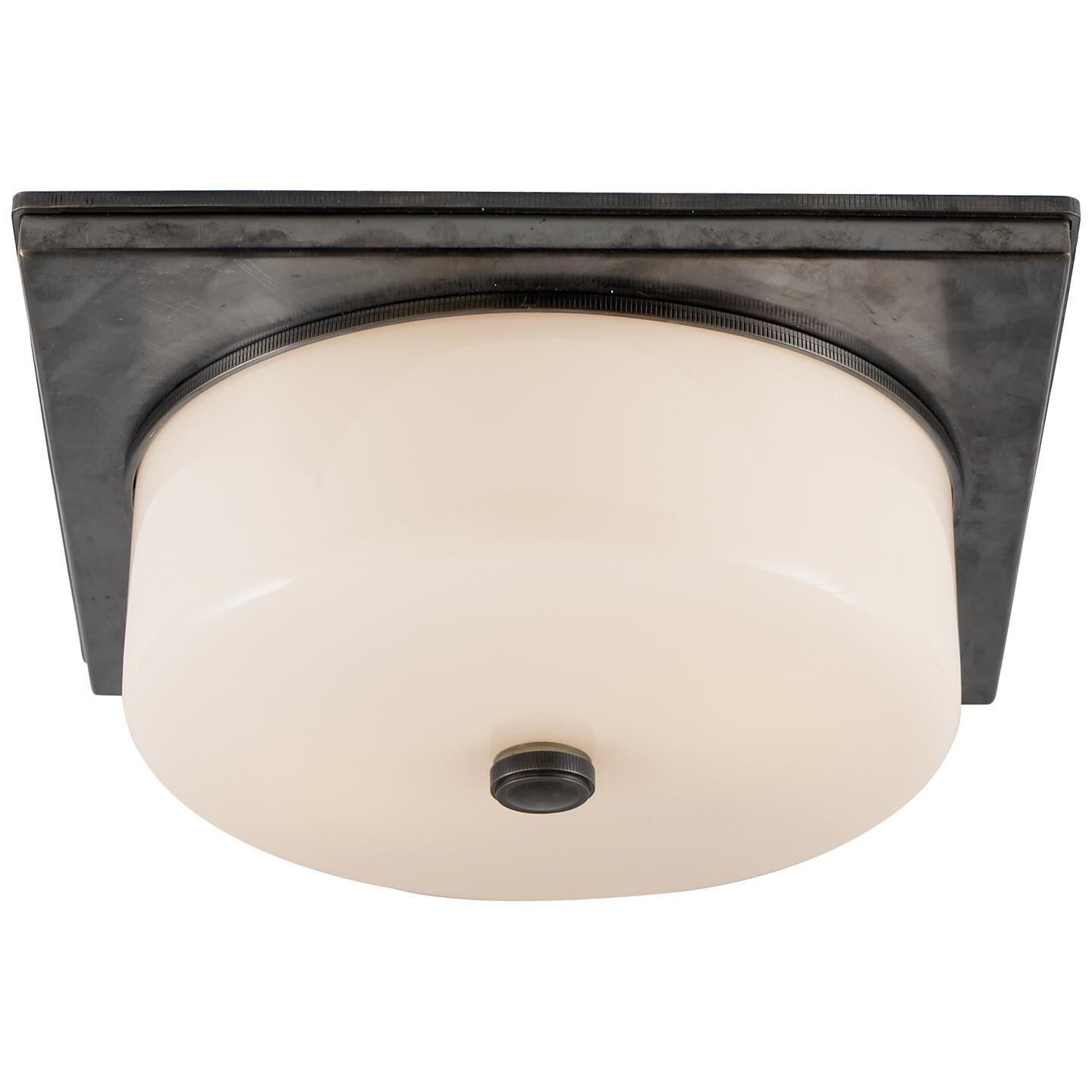 Thomas O'Brien Newhouse Block 12 Inch 2 Light Flush Mount by Visual Comfort and Co. Newhouse Block Flush Mount by Visual Comfort and Co. - TOB 4216BZ-WG