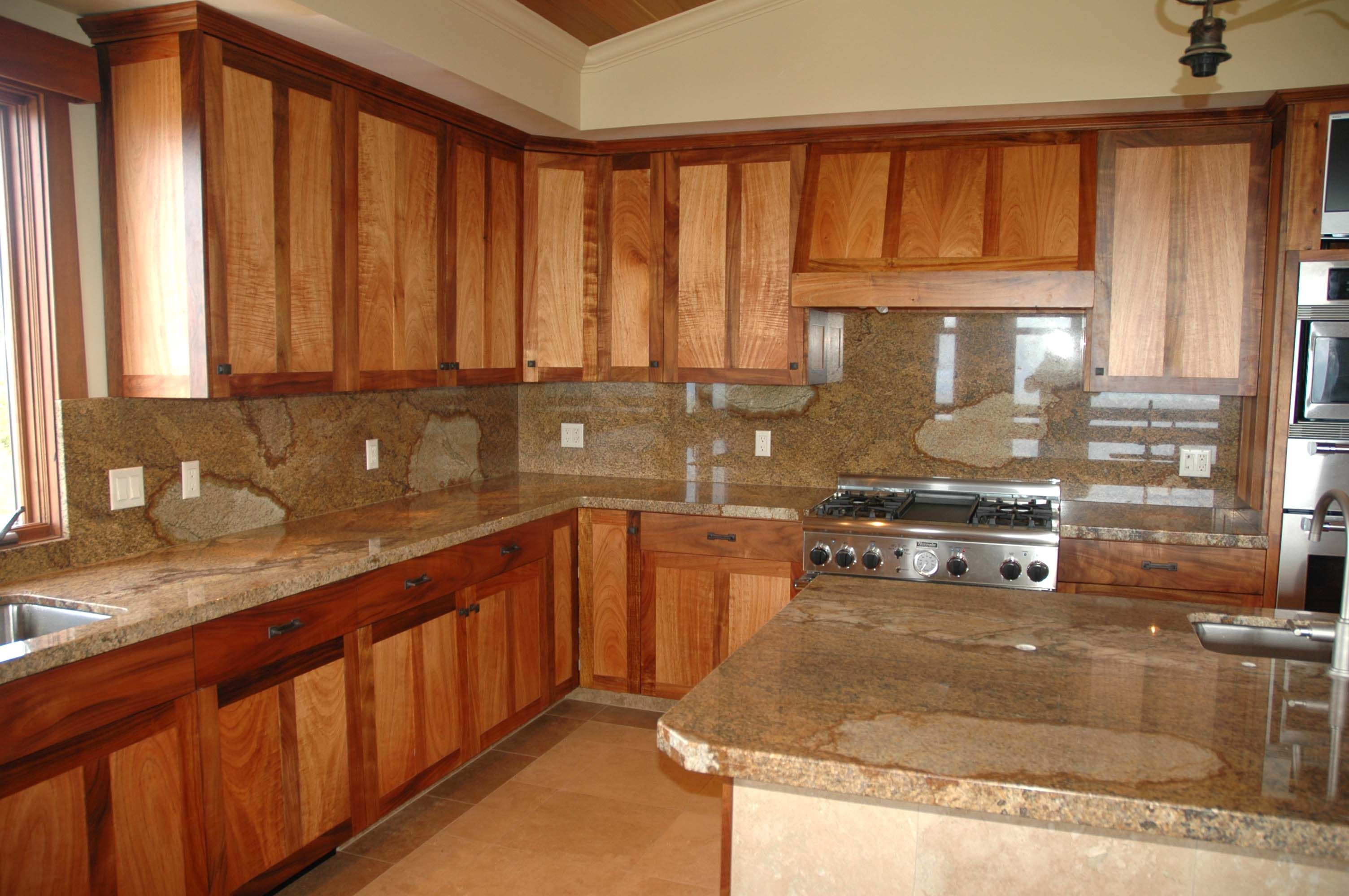 Custom cabinets custom koa kitchen in kula maui hawaii for Custom cabinetry