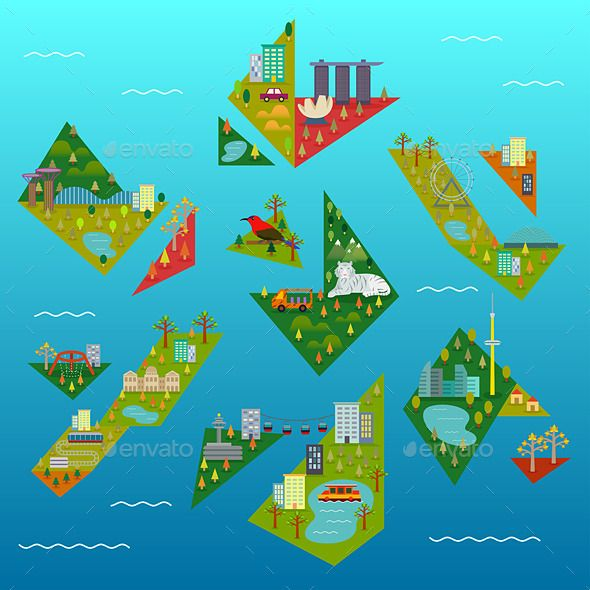 singapore mini island map