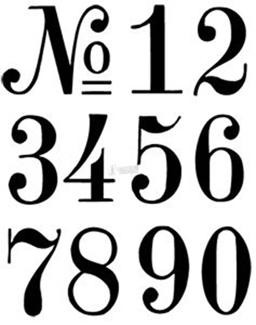 Number stencils crafts pinterest stencils lettering for Free number templates to print