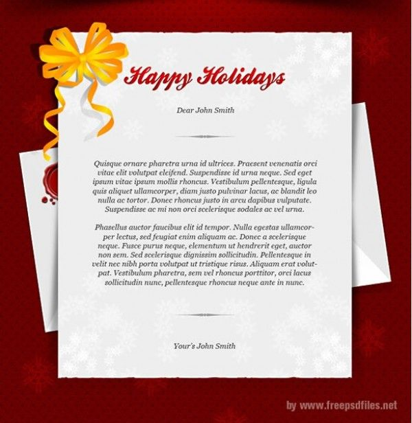Happy Holidays Greeting Card Template PSD Pinterest Holiday - greeting card template
