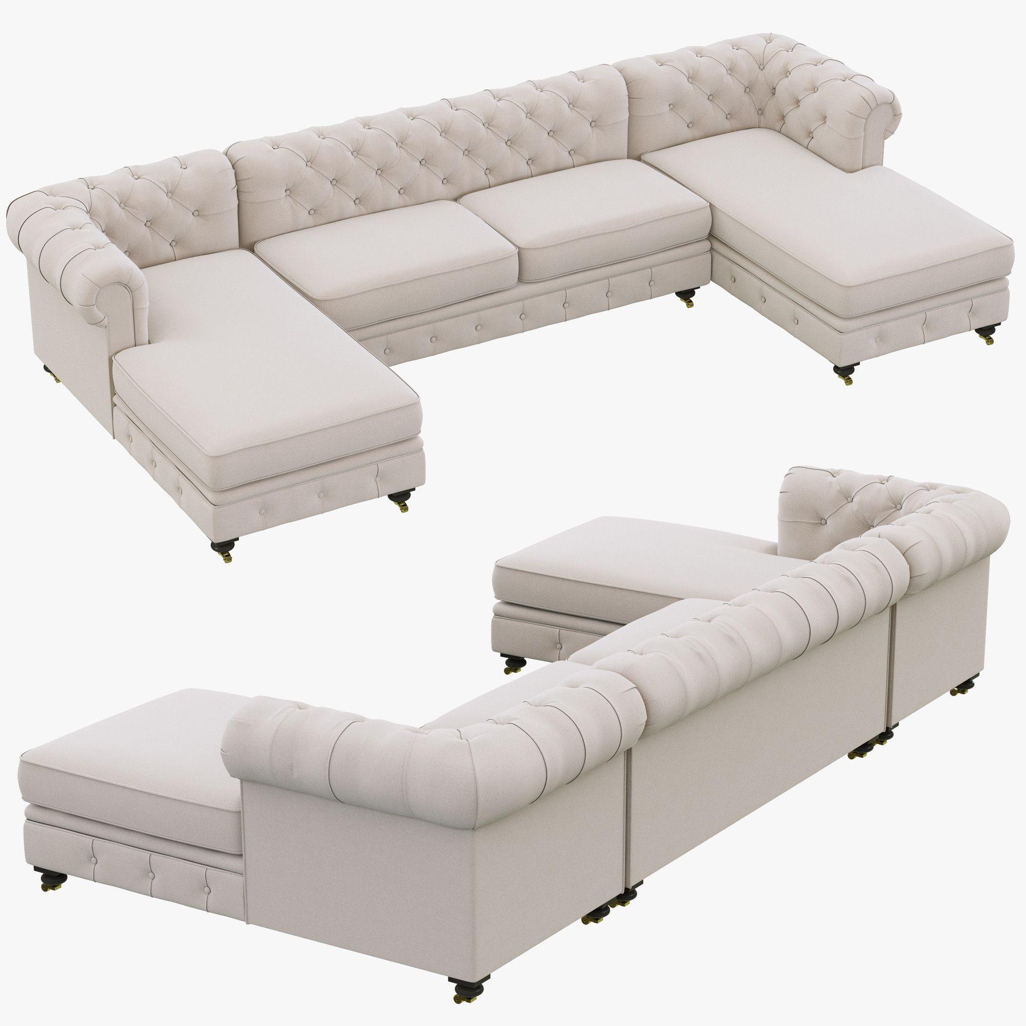 Restoration Hardware Kensington Upholstered 3d Max 3  ~ Kensington Upholstered Sofa