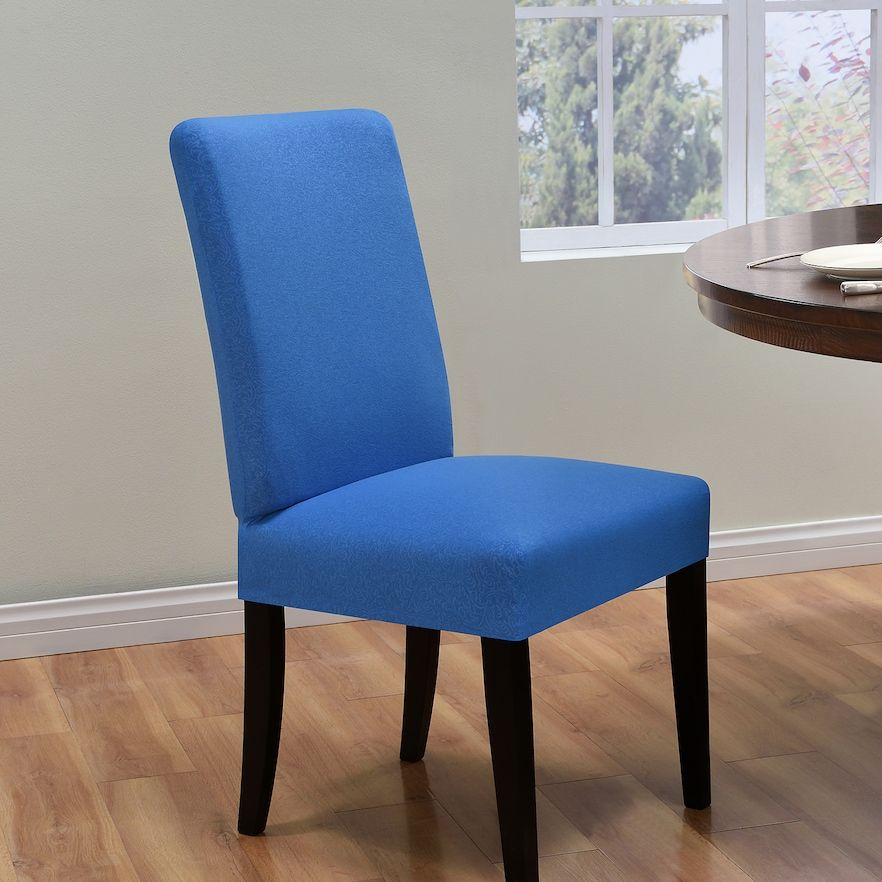 navy dining room chair covers tables and chairs rental kathy ireland ingenue slipcover in 2018 products blue