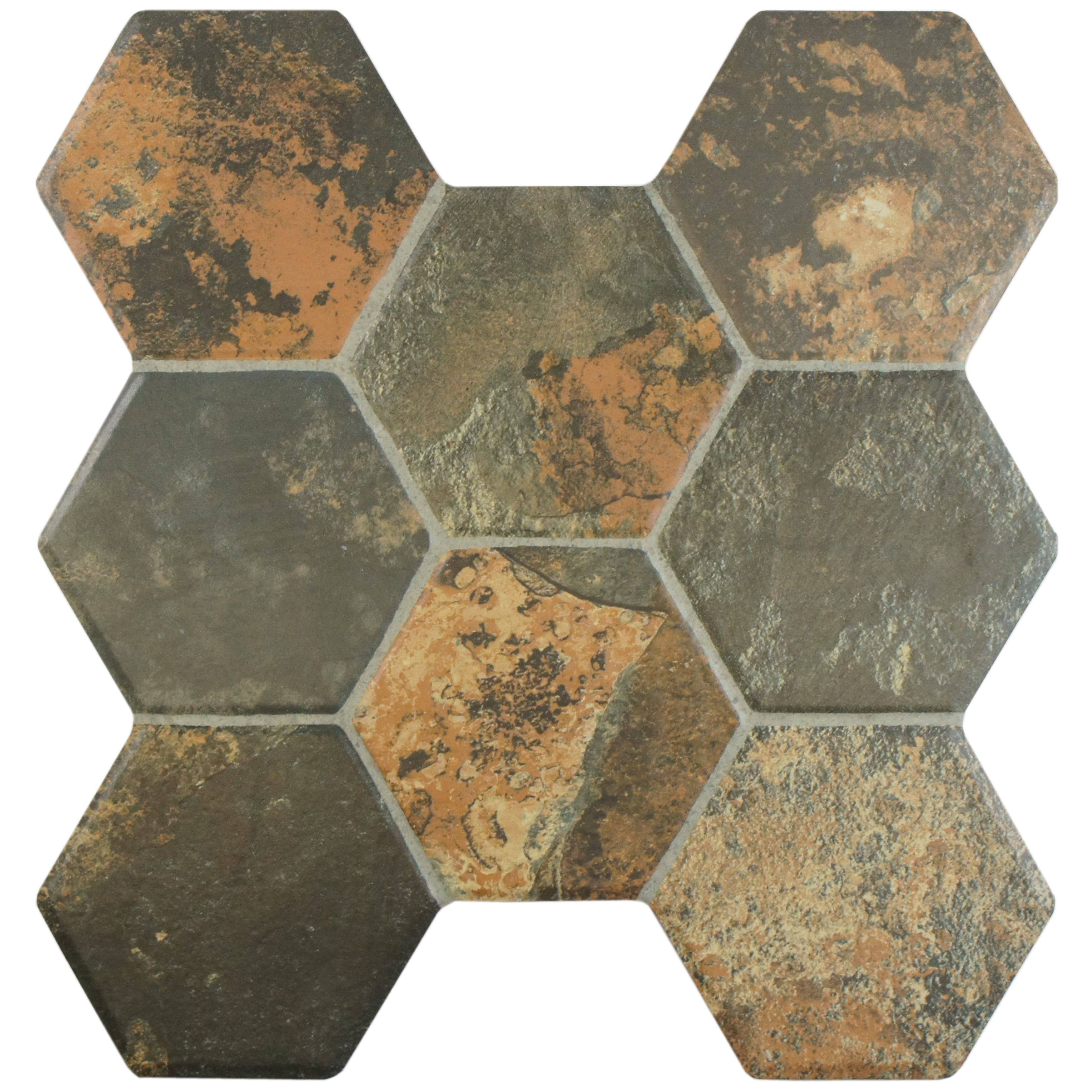 The Somertile 15 25x16 Inch Terrene Magma Ceramic Floor And Wall