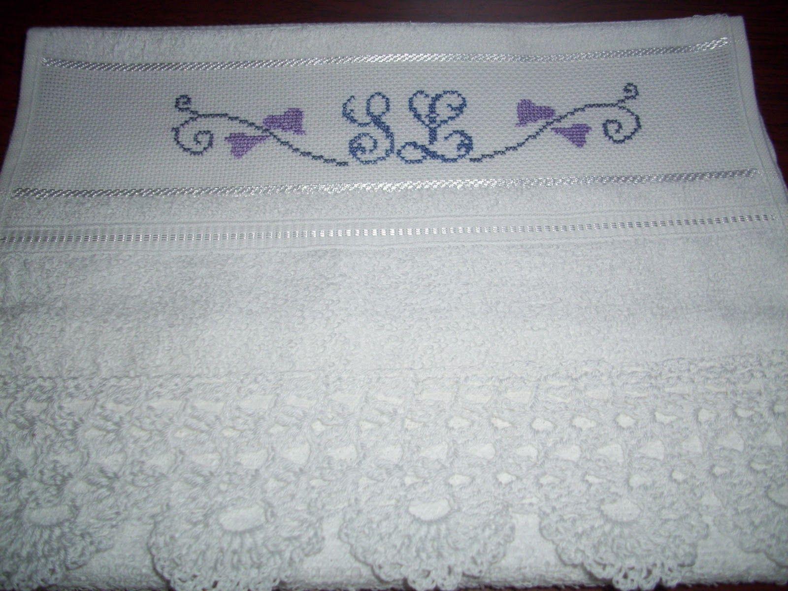 Resultado de imagem para toallas bordadas en punto de cruz | Punto ...