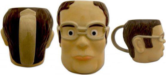 the office mugs. The Office Dwight Head-Shaped Mug Mugs H